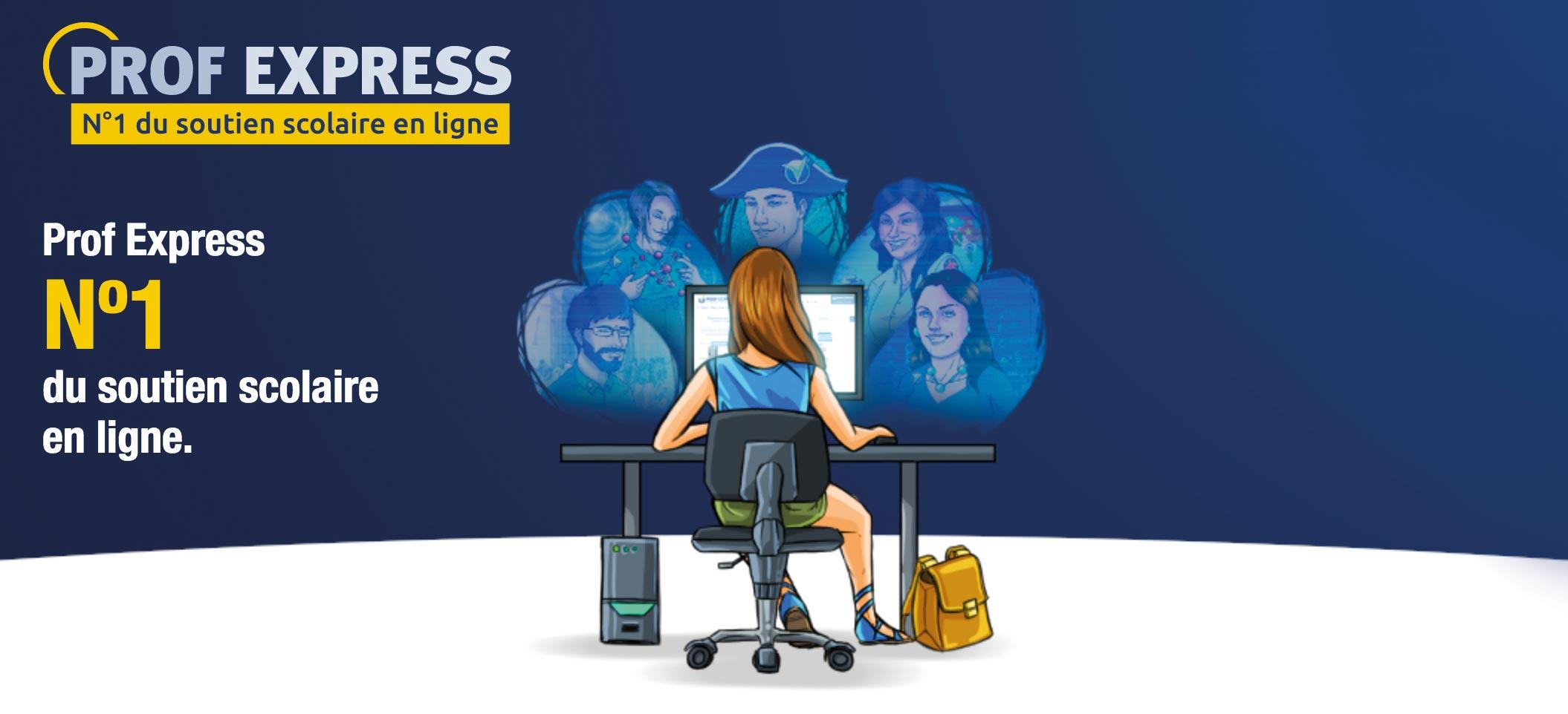 PROF EXPRESS n°1 du soutien scolaire en ligne